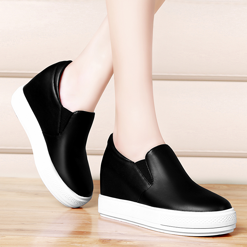 Shield fox 2016 autumn new korean version of a pedal loafers shoes women shoes thick crust increased leisure shoes women fashion shoes