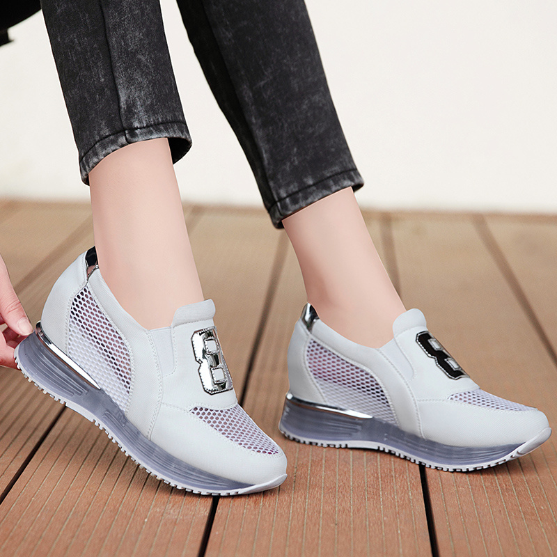 Shield fox 2016 spring new casual shoes increased female korean tidal shoes breathable shoes flat shoes loafers