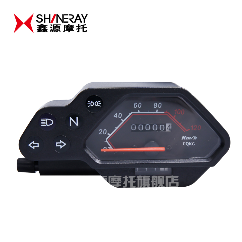 Shineray x_1 accessories shineray shineray x_1 meter lozenge-black shell motorcycle accessories-with a neutral dial