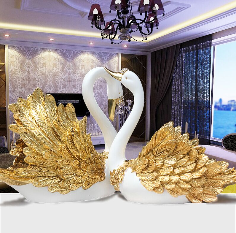 Shinerun furniture european creative ornaments swan wedding gift to celebrate a wedding gift ideas and practical industrial arts and crafts furnishings home decorations