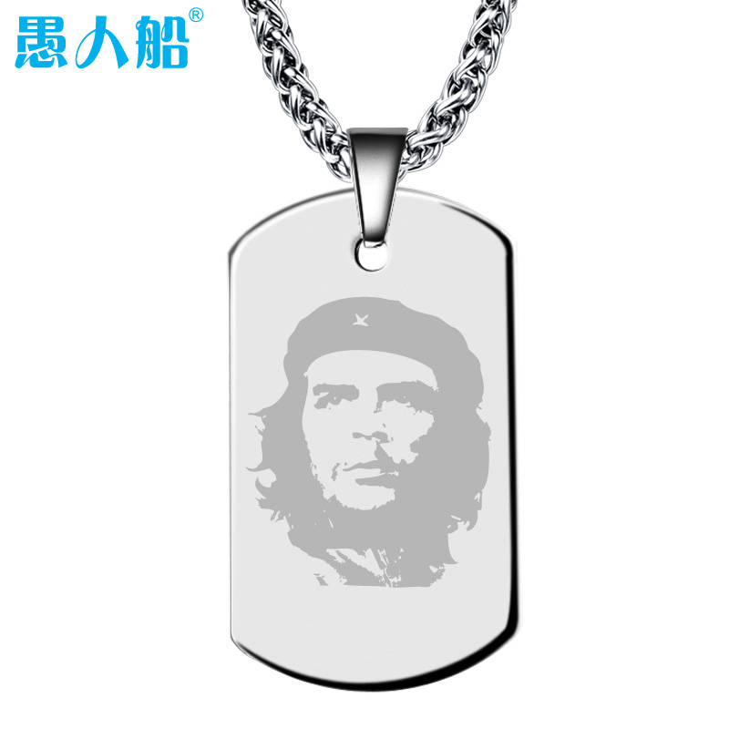 Ship of fools 925 silver diy custom dog tag identity cards listed lettering custom necklace pendant men and women