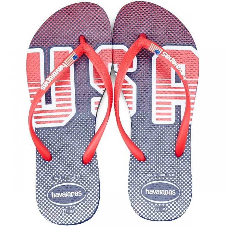 eb437aaddb4 Get Quotations · Shoes women s sandals havaianas Q02029932 navy red