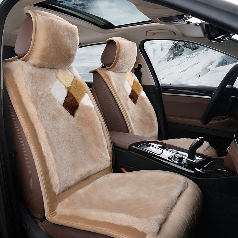Short plush winter wool car seat cushion plush seat cover tiggo 5 riich g5 g6 mg mg6 mg5