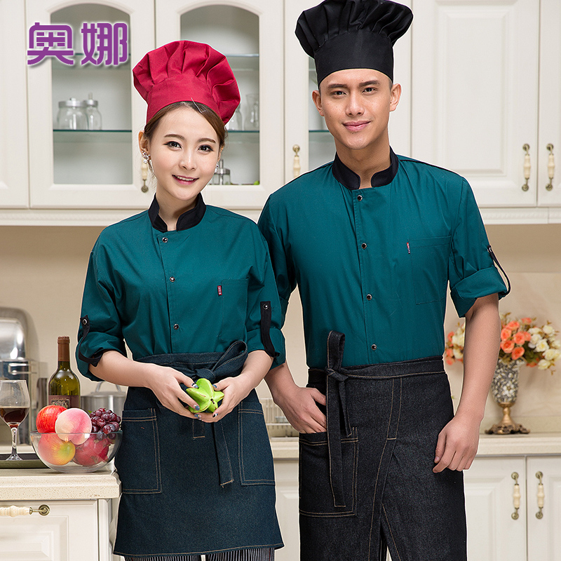 Short sleeve chef service hotel restaurant kitchen restaurant chef service restaurant pastry egg cake house chef overalls summer