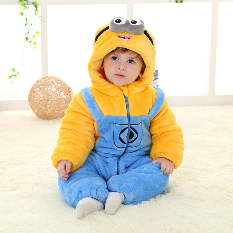 Siamese baby clothes for men and women 0 women and 3 months newborn male baby fall and winter clothes winter thick cotton clothing romper suits