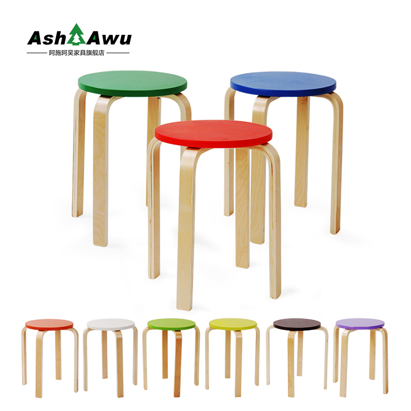 Simple green wood home dining table stool stool stool stool color stool bentwood stool stool stool creative fashion deals