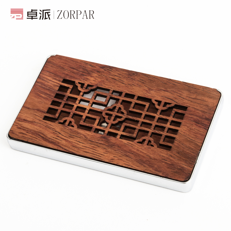 Simple mahogany card case business card holder creative men men women large capacity volume mullion mahogany card case