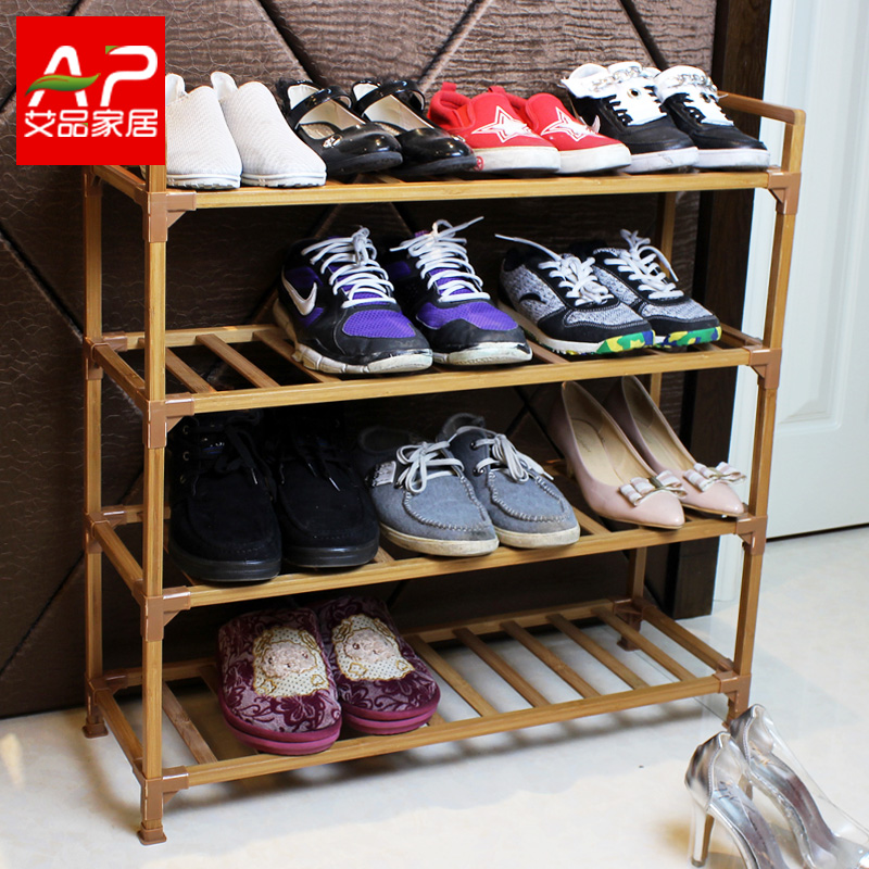 Simple shoe rack shoe rack multilayer solid wood dust shoe shoe dormitory small bamboo shoe rack storage rack shelving simple specials