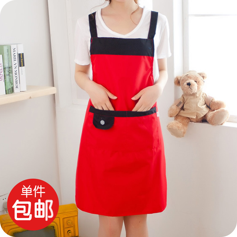 Simple small floral sleeved aprons kitchen cooking oil stain sleeveless apron apron bust 113