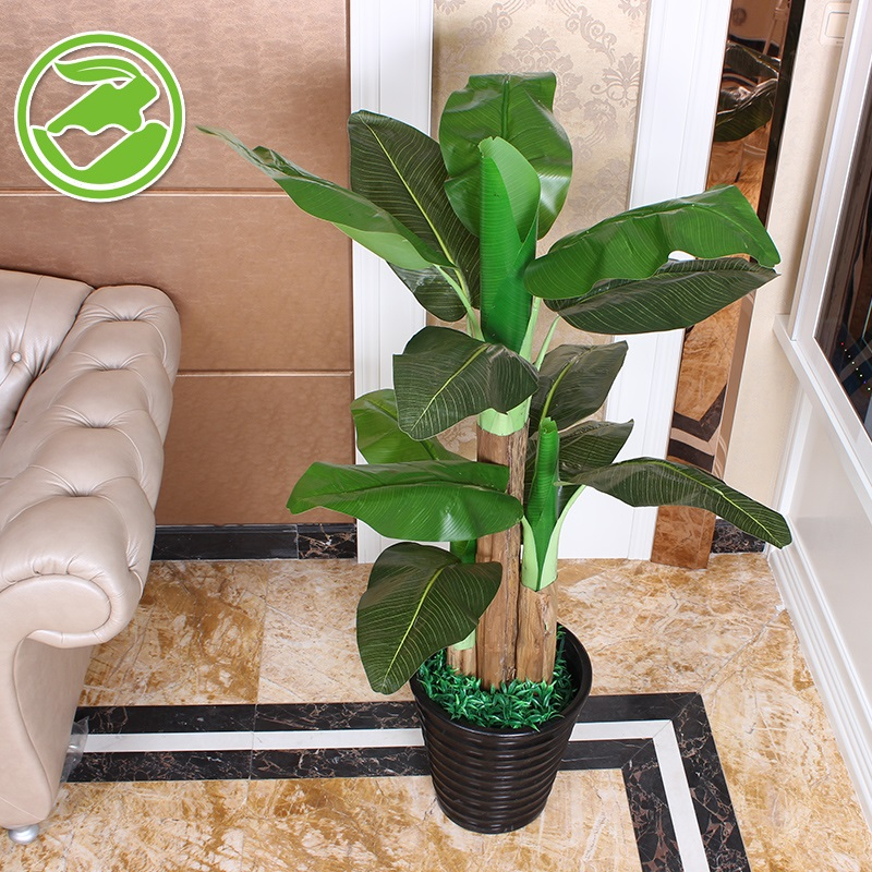 Simulation banana banana tree plant fake fake tree bonsai planting plants within the office of the major shopping malls hotel furnishings plastic flower decoration