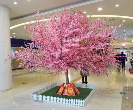 Simulation peach tree simulation of large plants simulation tree cherry plum tree wishing tree peach decorative pink cherry blossoms