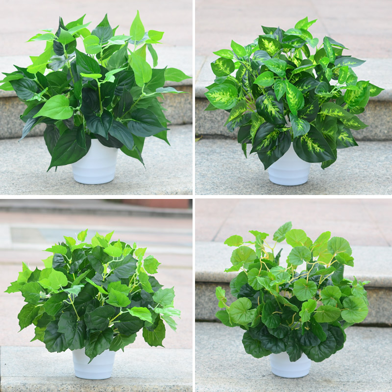 Simulation plants fake plants small decorative potted artificial flowers bonsai plants simulation simulation green radish plants