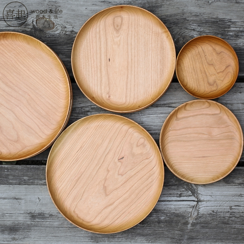Since red cherry wood round hi hi compote round wooden tray wooden tray fruit plate creative dried fruit compote dish