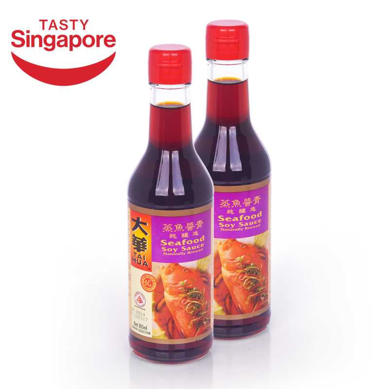 Singapore imported direct mail dahua with steamed fish sauce green soy sauce 2 bottle authentic guaranteed h061