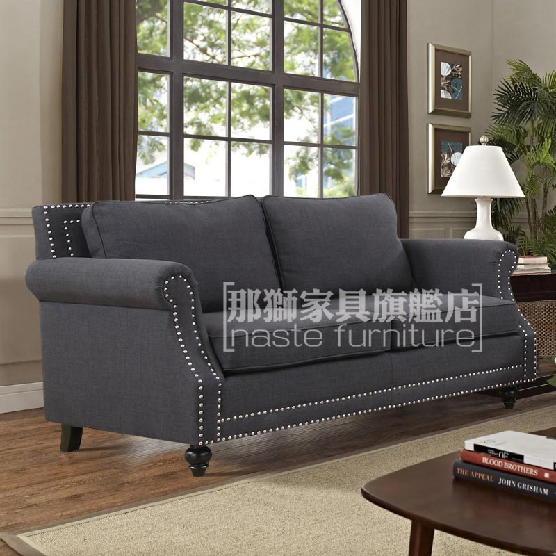 Single and double trio nordic american country modern minimalist living room sofa fabric sofa small apartment sofa leisure club