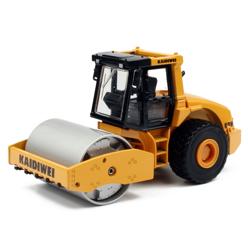 Single drum compactor compactor truck models kaidi wei children's toy car alloy engineering vehicle model car building