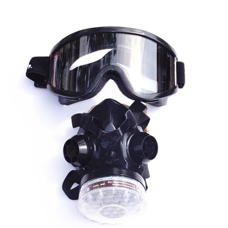 Single tank 2 sets of rubber respirator mask anti dust masks painting dedicated pesticide chemical formaldehyde gas