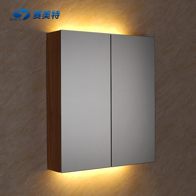 Sinotech stainless steel bathroom cabinet mirror cabinet bathroom cabinet mirror cabinet mirror box storage bath mirror illuminated T-111