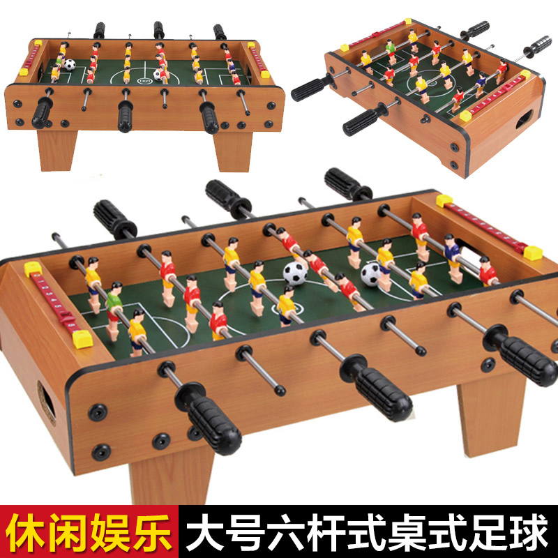Six large tabletop football game four small household foosball table football table soccer table football machine toys for children
