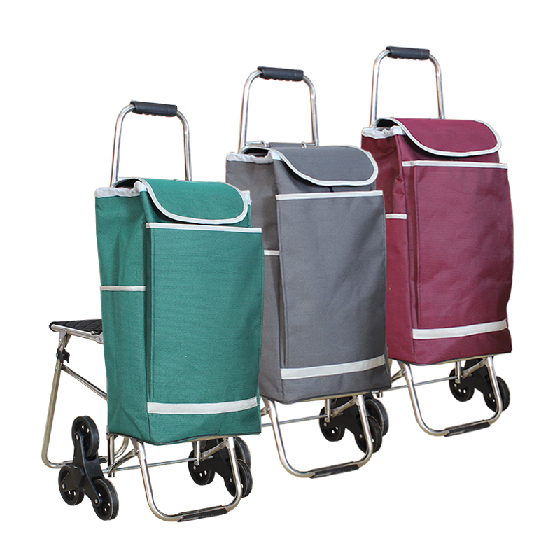 Six stainless steel seat belt pulley folding cart portable shopping cart palou car shopping riders pull carts luggage Stroller