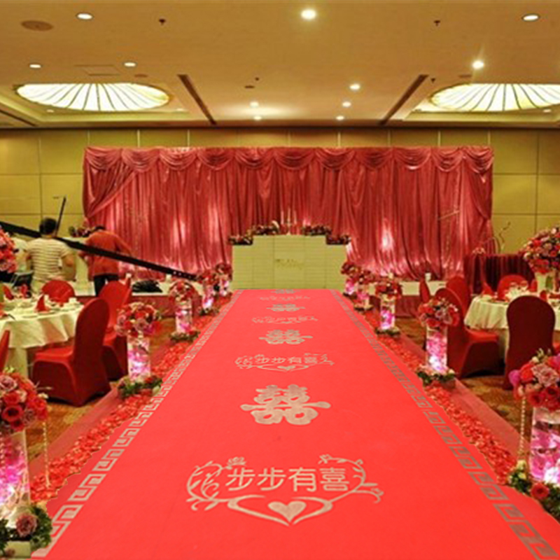 Get Quotations Size Wedding Celebration Disposable Red Carpet Opening Ceremony Supplies Step Pregnant Printed Flowers