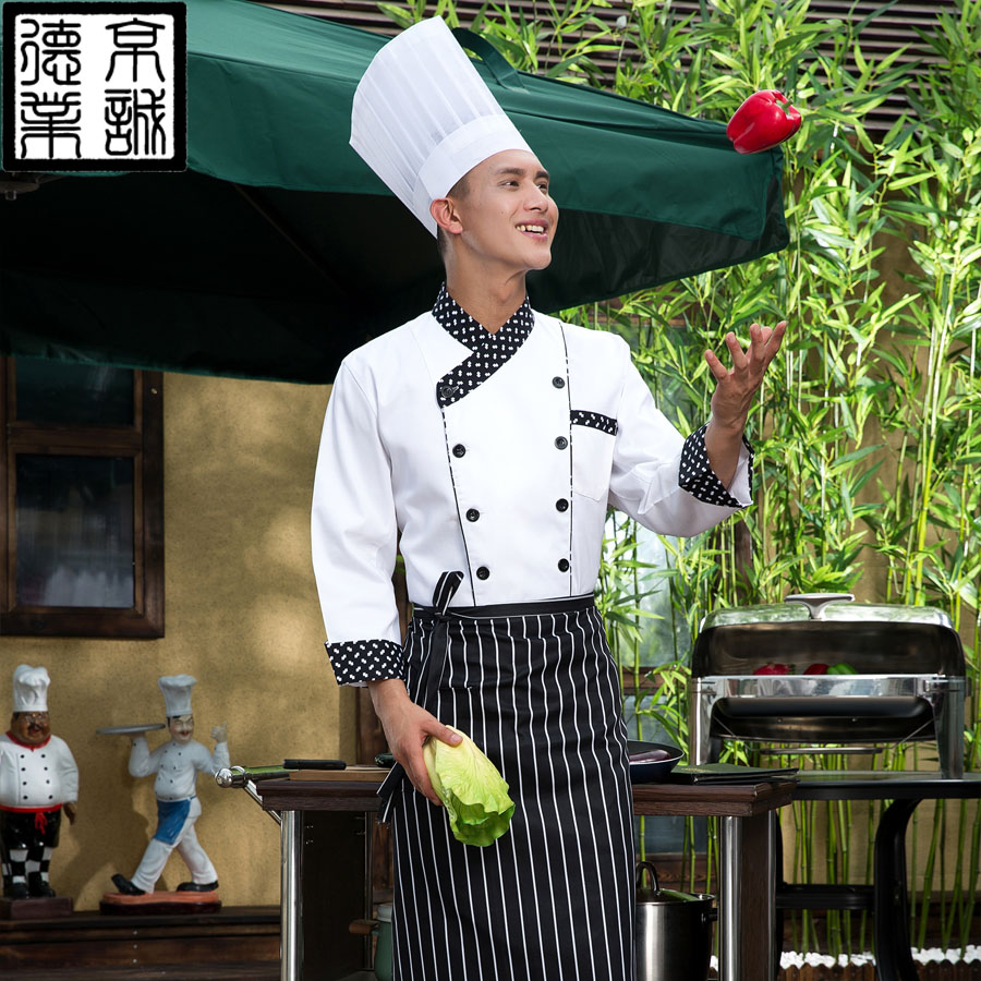 Sleeved chef service hotel chef service hotel chef clothing chef uniforms kitchen chef restaurant chef uniforms sleeved