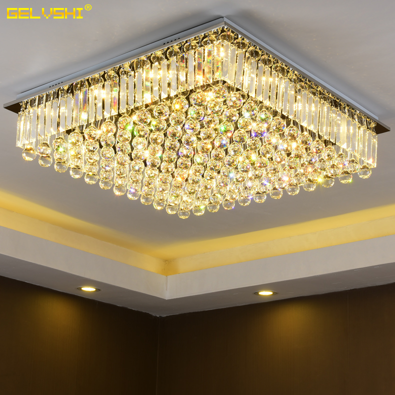 Slim led modern minimalist fashion led ceiling lights rectangular living room atmosphere of luxury crystal lamp bedroom lamp china