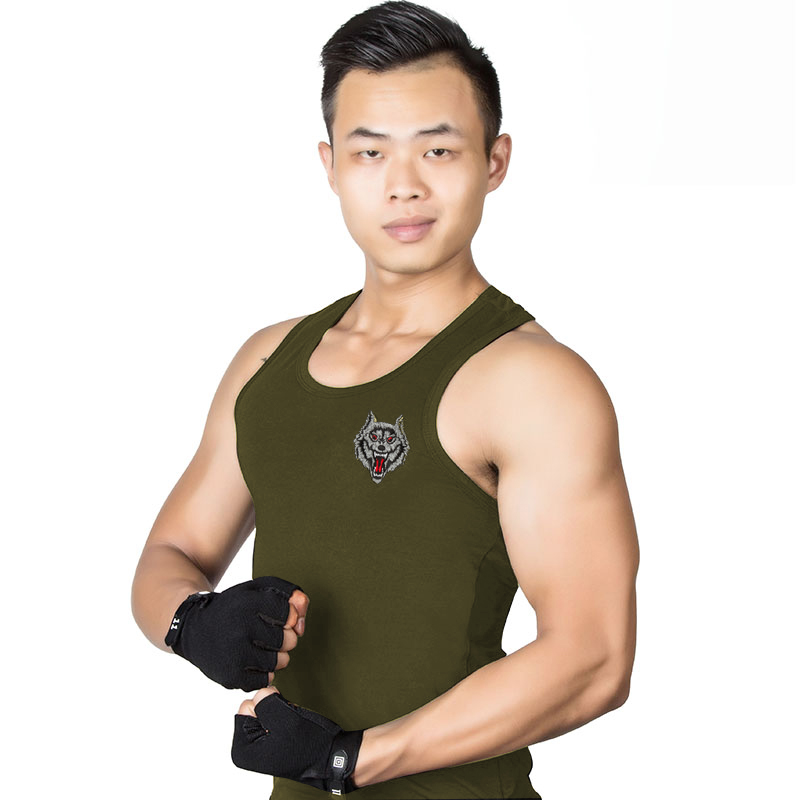 Slim uniformed men outdoor fitness sports fitness and quick round neck sleeveless undershirt vest for training special forces thin xin