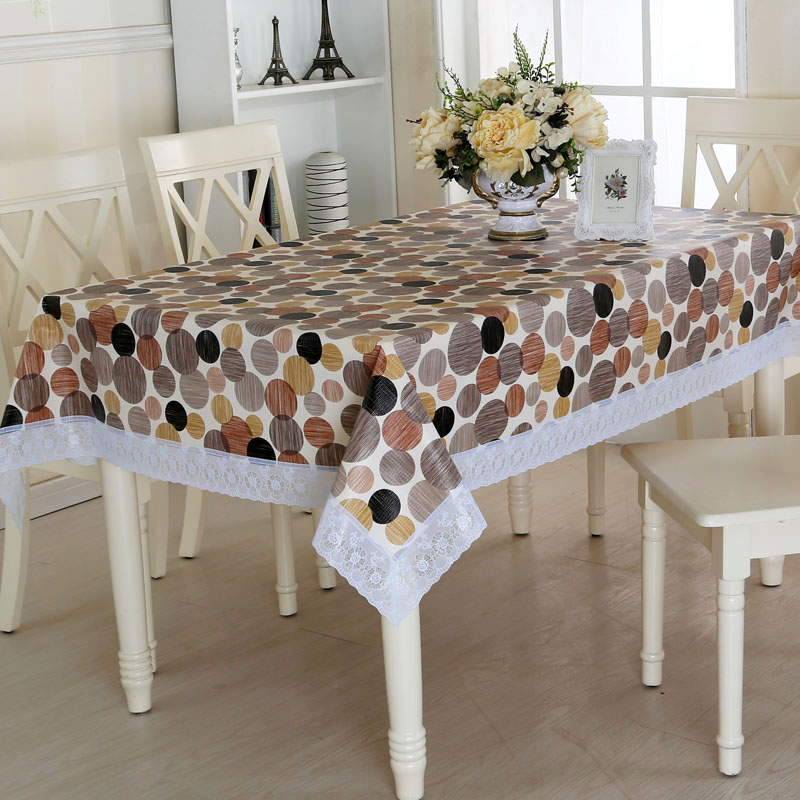 Slip tablecloth coffee table mat pvc waterproof oil disposable table cloth hot are rectangular shaped plastic lace tablecloth