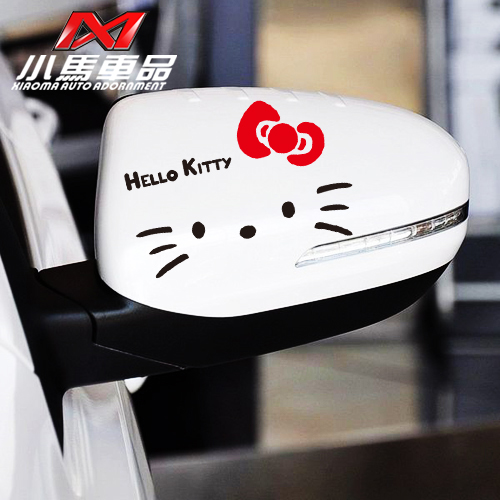 Small carriage goods reflective stickers car stickers cute cartoon kt cat rearview mirror stickers affixed one pair of loaded a078