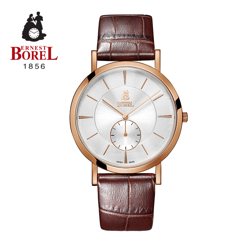 Small three needle quartz watch men's watch borel male quality ernestborel imported from switzerland male watch