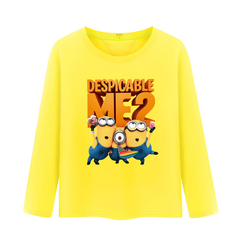 33bb631ed Get Quotations · Small yellow people despicable me kids autumn 2016 new  boys cotton long sleeve t-shirt