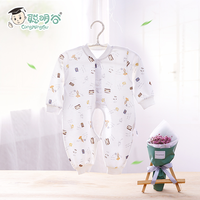 Smart valley baby leotard spring and summer clothes for men and women sack sleeved leotard romper climb clothing newborn baby clothes