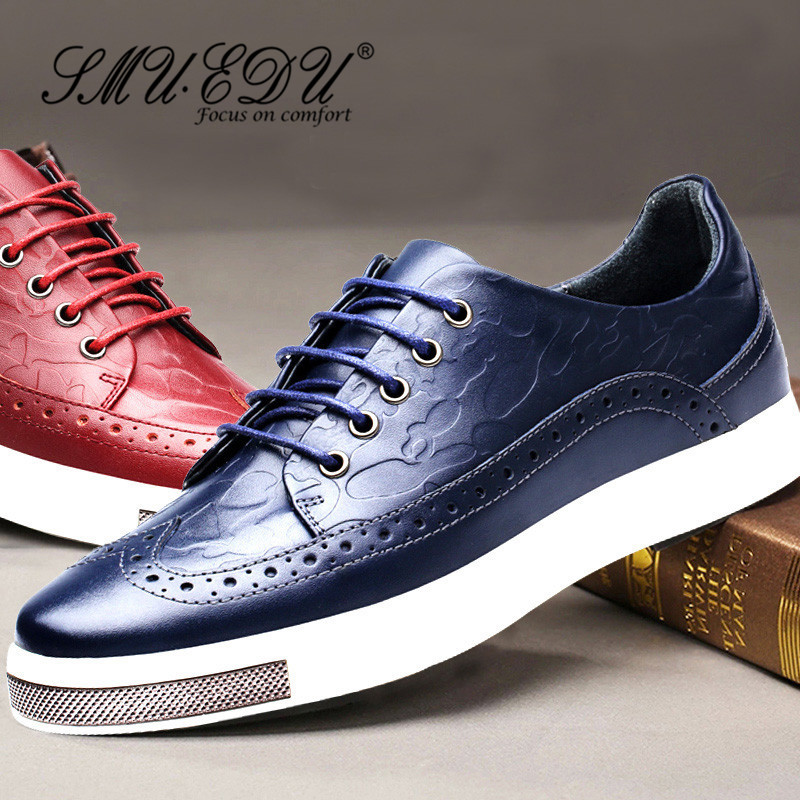 Smuedu wild breathable casual shoes 2016 new flat with lace solid color round low shoes tide shoes 8575