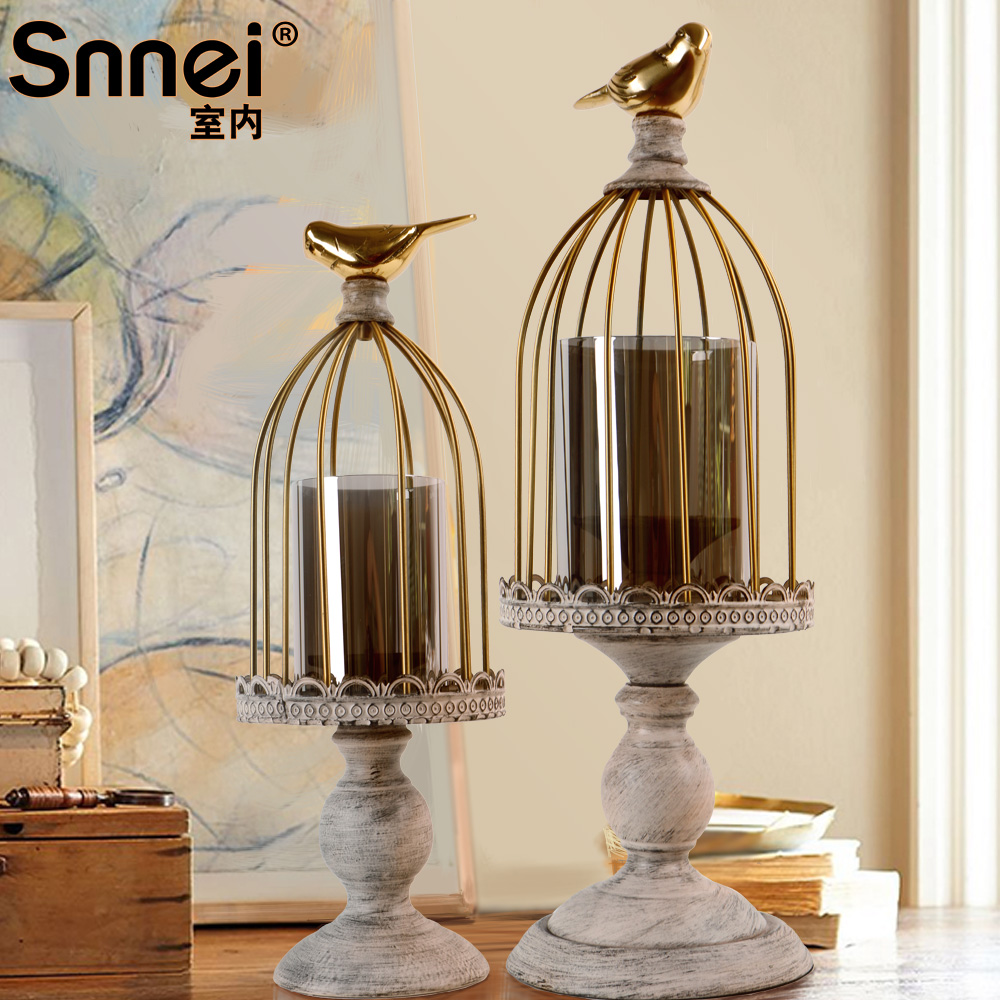 Snnei european retro nostalgia props candle ornaments romantic candlelight dinner