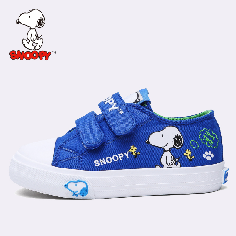 df8926966c Snoopy shoes boys 2016 autumn new kids cartoon images of children canvas  shoes velcro sneakers