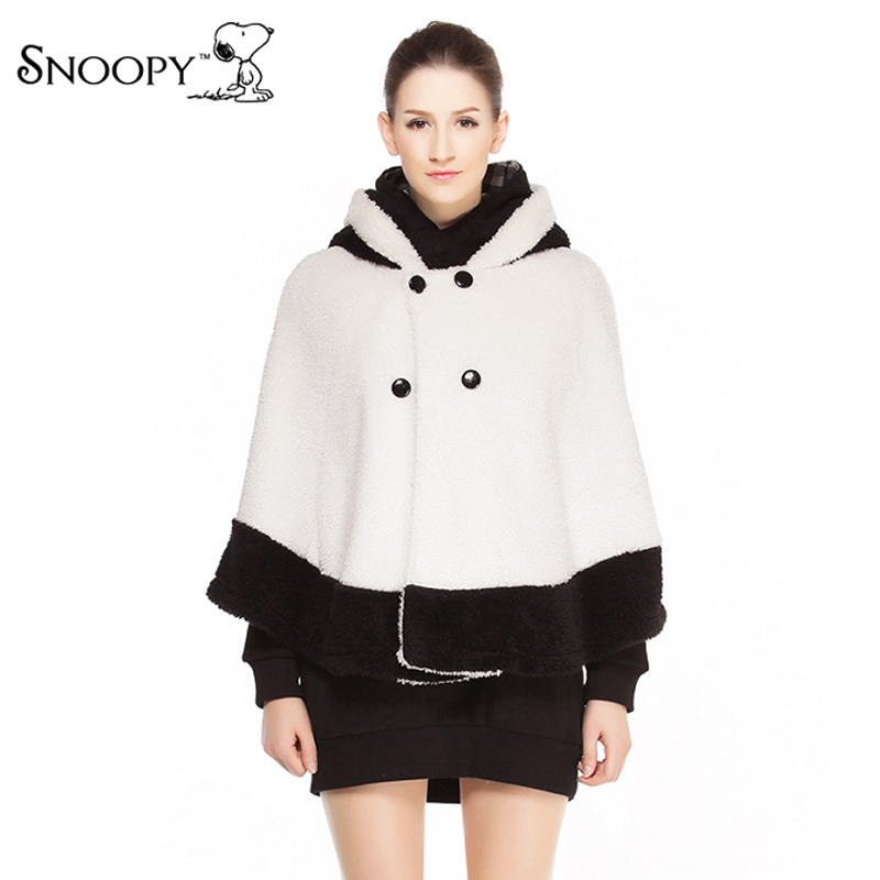 Get Quotations · Snoopy snoopy new women s cute and playful hit the color  black and white short coat caa70fb43