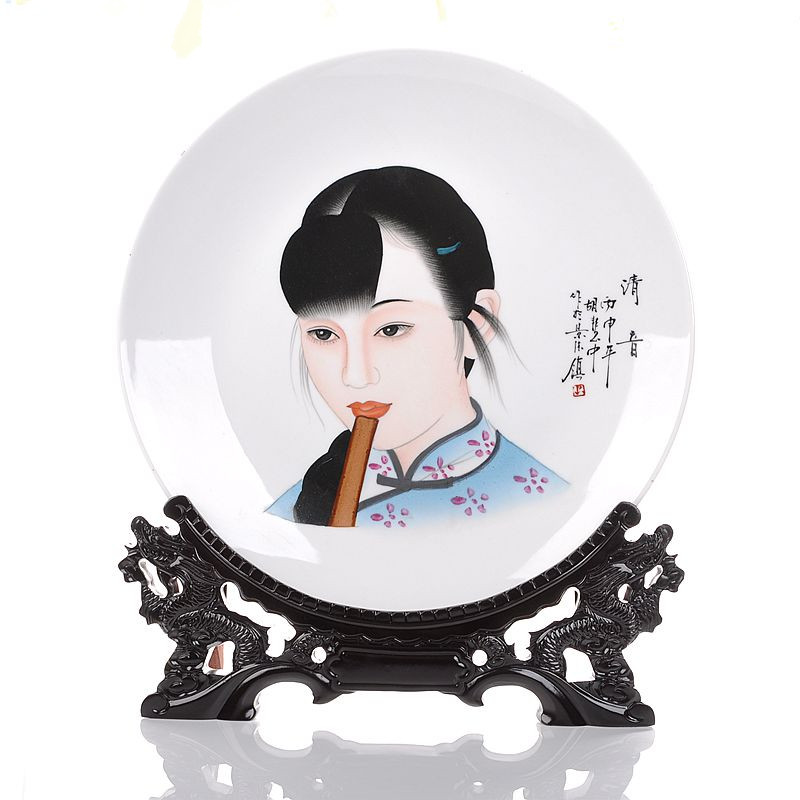 Snow king jingdezhen ceramic decorative plate hanging plate painted ã voiceless ã sit plate craft ornaments gift