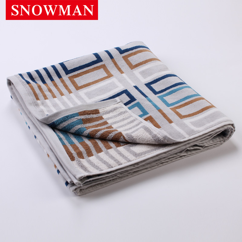 Snowman/adams norman dyed cotton towels star hotels absorbent towel to increase the thick bath towel