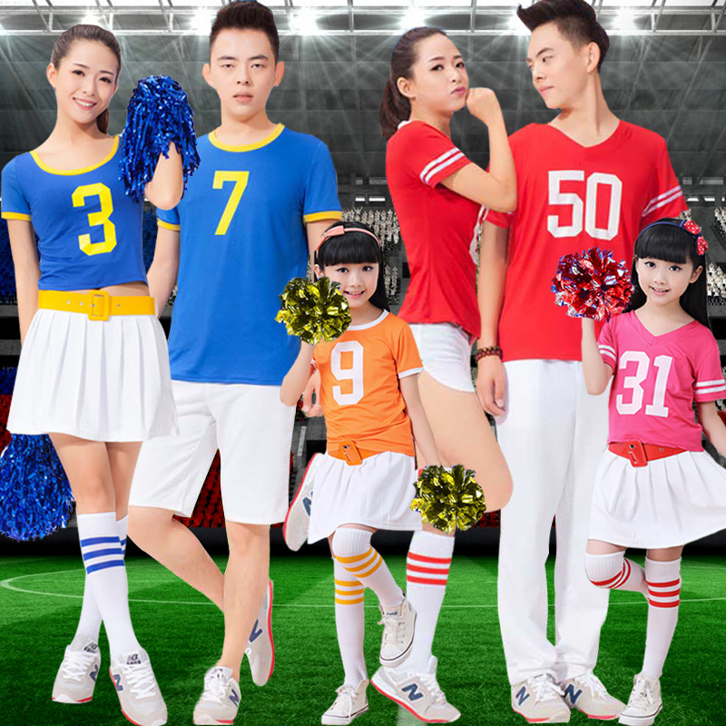 Snsd student adult children early childhood game jersey cheerleaders cheerleading costumes performance clothing suit