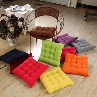 Solid color in autumn and winter car seat cushion thick tatami cushion office chair wicker chair computer student dormitory rX4nU2