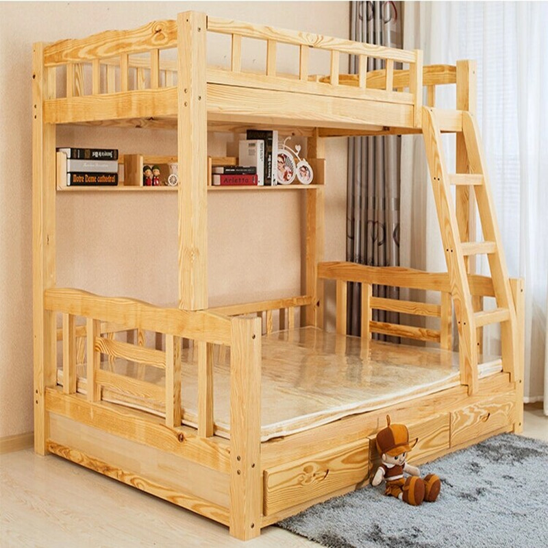 Solid wood bed children's bunk bed wood bunk bed wood bed picture bed bed bunk bed mother and child bed wood bed double bed