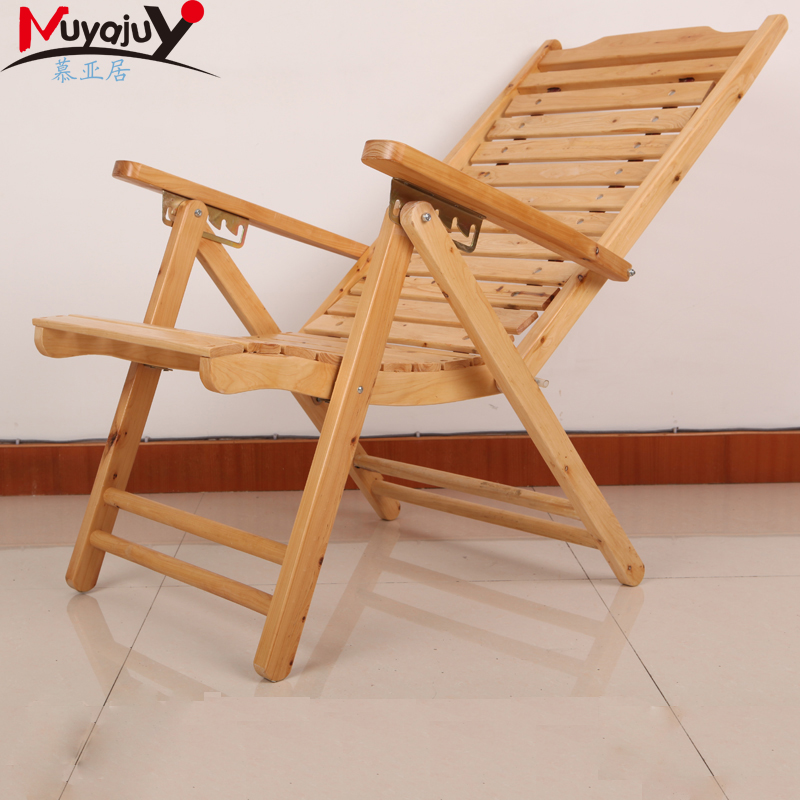 Solid wood chair backrest folding chairs beach chair recliner chair siesta chair balcony shook his chair leisure chair bamboo chair bamboo chair recliner