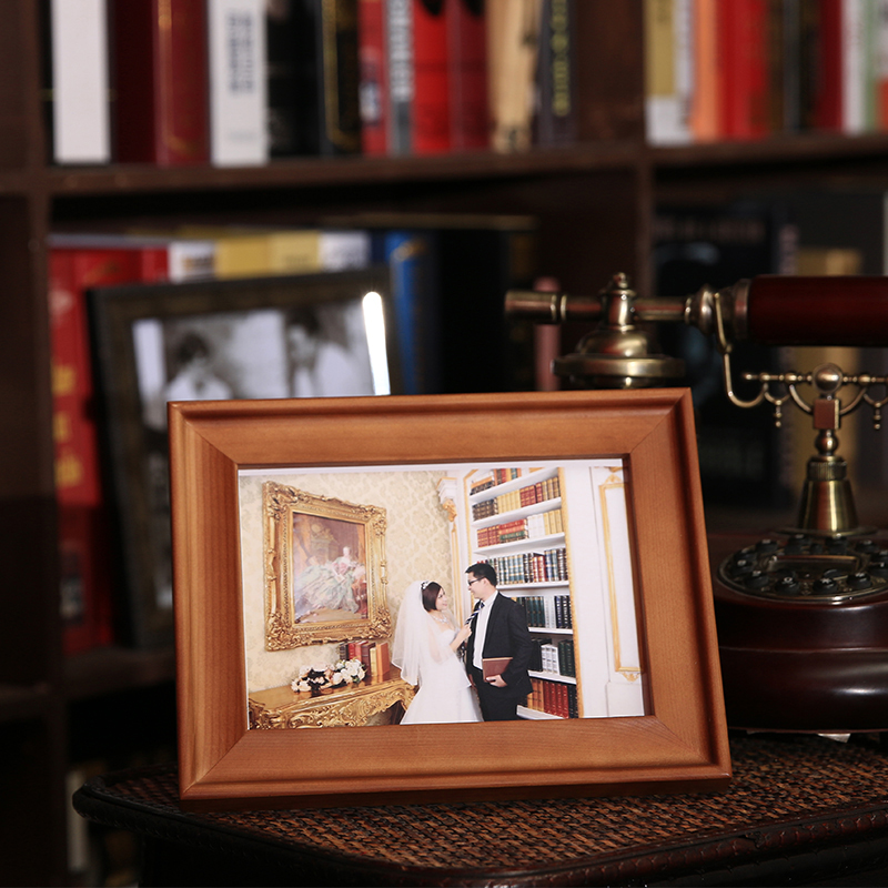 Solid wood frame continental 5.6.7.8.10.12 inch wide a4 ikea swing sets creative photo frame picture frame