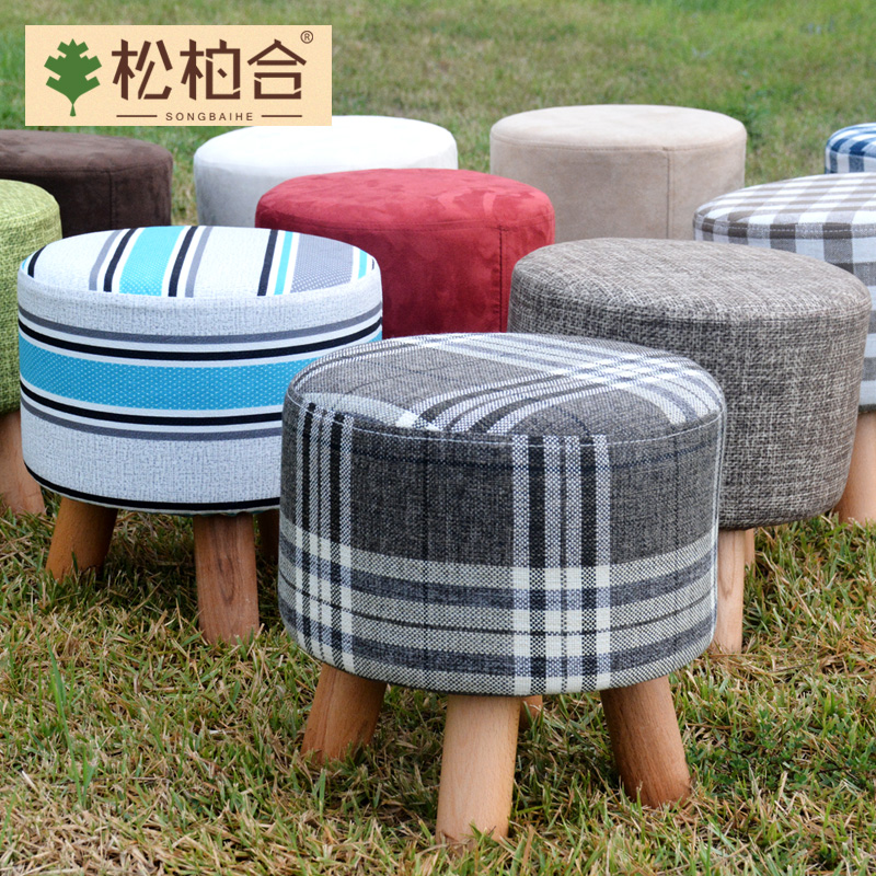 Solid wood stool changing his shoes stool stool stool fashion creative small stool stool stool shoes stool stool fabric sofa stool stool stool