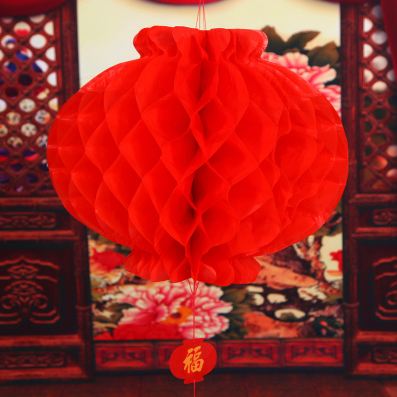 Sonam red paper lanterns plastic paper lanterns new year festive new year spring festival chinese new year festive wedding decoration