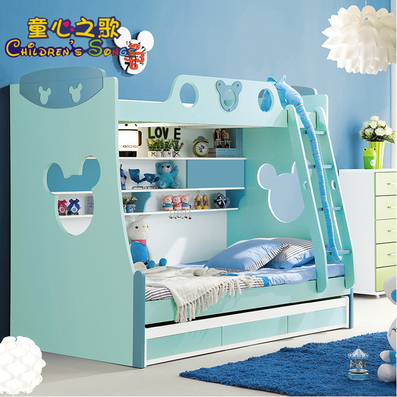 Songs of innocence of children's bunk bed bunk bed picture bed bed bunk bed boy multifunction bed