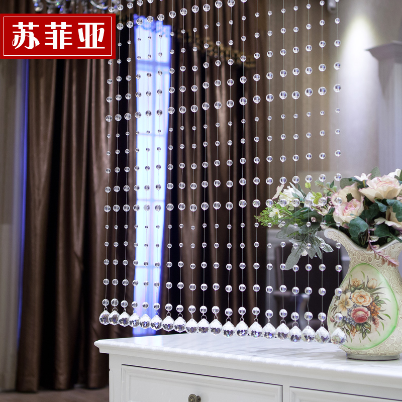 Sophia crystal bead curtain crystal curtain crystal curtain curtain finished off the entrance shoe