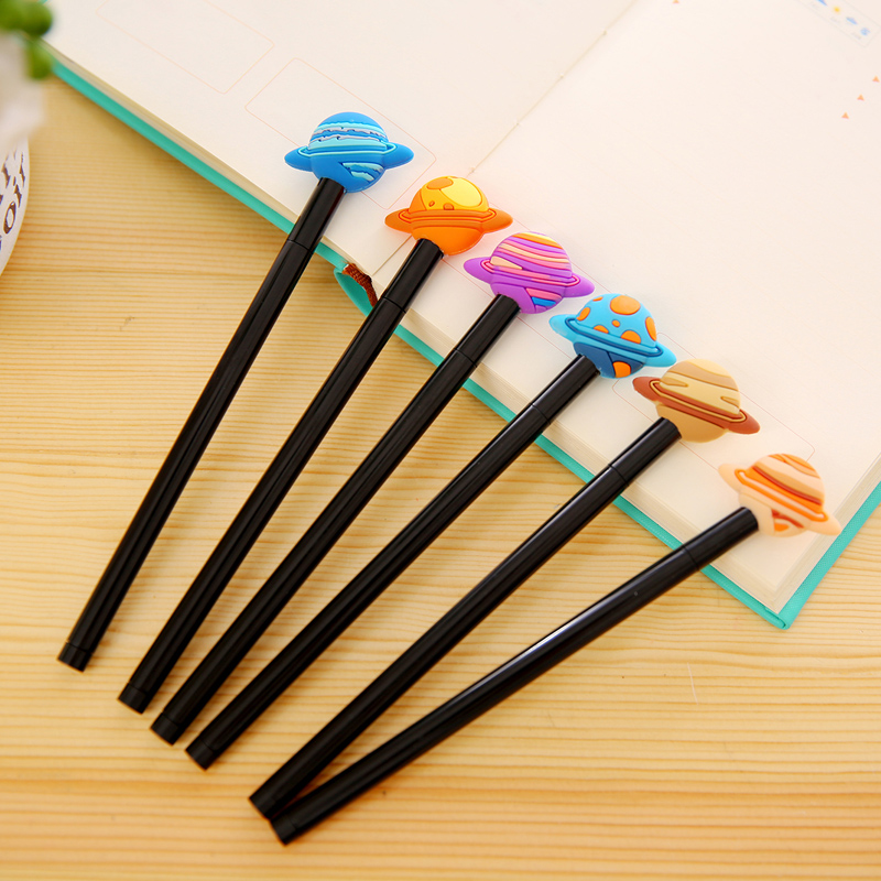 South korea creative stationery cute star gel pen gel pen 5mm black pen refills word sign pen student prizes