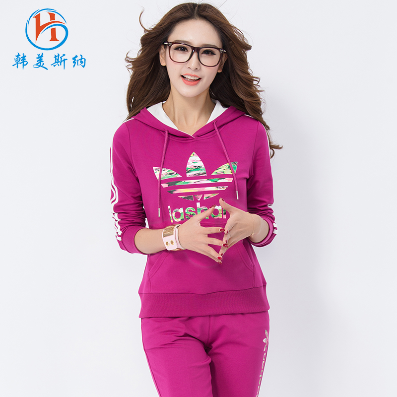 South korea gomez carolina 2016 spring new leisure suit female loose long sleeve sweater two sets of student sports suit